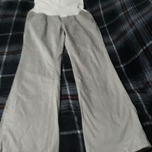 Grey jean maternity pants